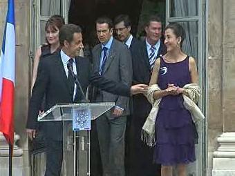 Nicolas Sarkozy a Ingrid Betancourtová