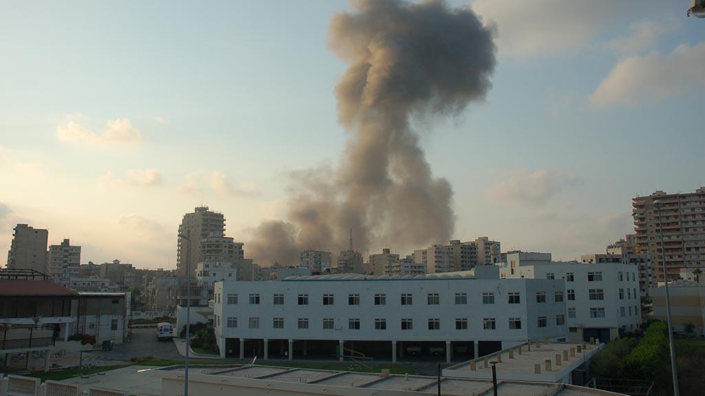 Libanonský Týos po izraelském bombardování