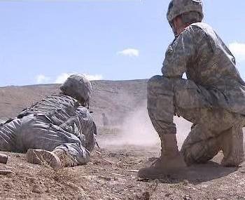 Vojáci při vojenském nasazení