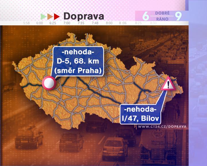 Dopravní situace ve čtvrtek 10. 7. 2008