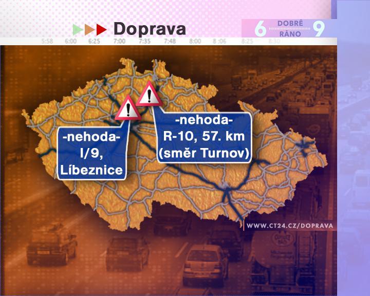 Dopravní situace ve středu 9. 7. 2008