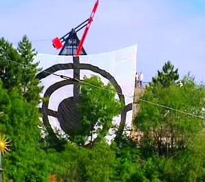 Terč Greenpeace proti umístění radaru
