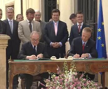 Slavnostní podpis vstupu ČR do ESA