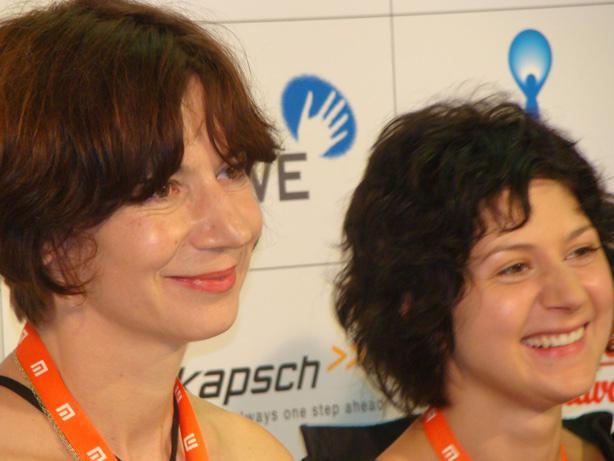 Michaela Pavlátová a Martha Issová