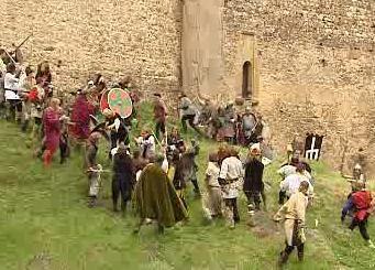 Bojovníci na hradě Točník