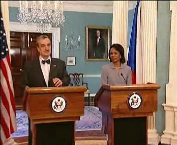 Karel Schwarzenberg a Condoleezza Riceová