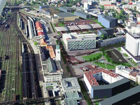 Model autobusového nádraží v Hradci Králové