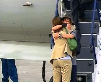 Ingrid Betancourtová se vítá s matkou