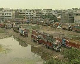 Stávka dopravců v Indii