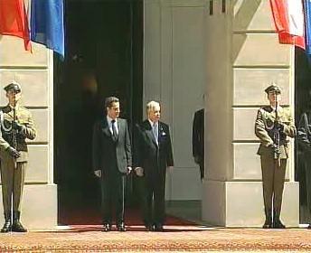 Nicolas Sarkozy a Lech Kaczyński