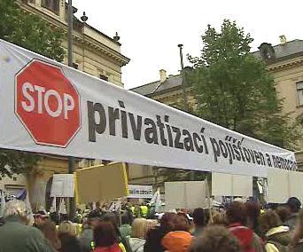 Demonstrace odborů