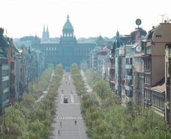 Schéma Václavského náměstí po plánované přestavbě