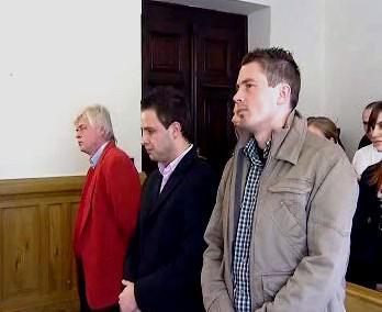 Aleš Schuster a Tomáš Mrázek před soudem