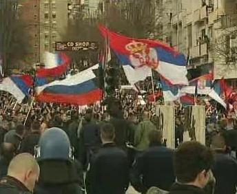 Srbská demonstrace