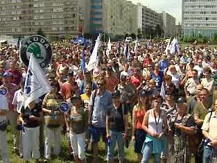 Stávka v Mladé Boleslavi