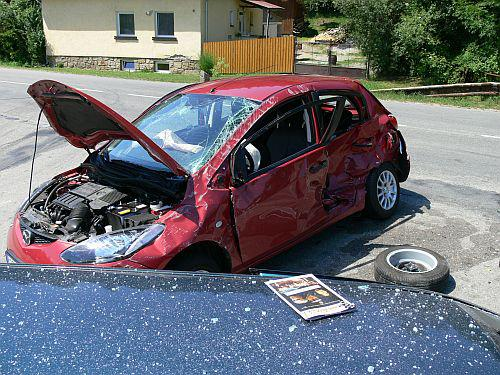 Mazda 2 po nehodě