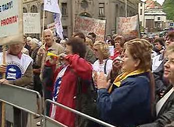 Protestující učitelé