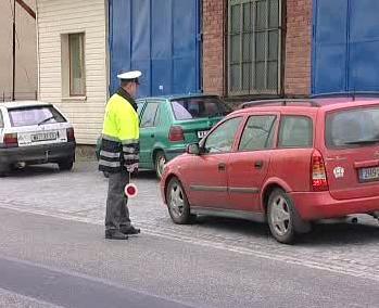 Policista při práci