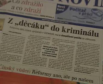Noviny informují o analýze kriminality dětí
