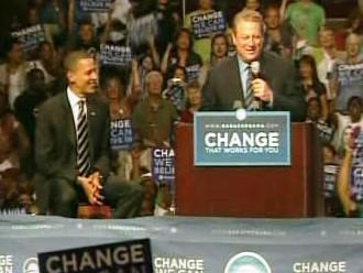 Al Gore fandí Obamovi