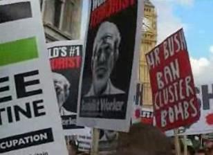 Protest proti Bushovi