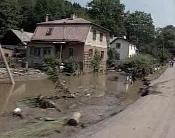 Rozvodněná řeka Dědina