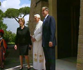 Bushovi s papežem