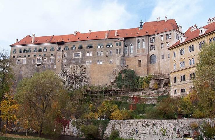 Jížní fasáda hradu Český Krumlov