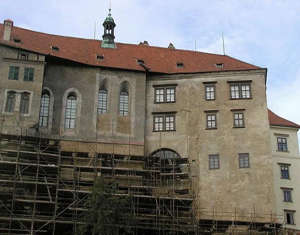 Oprava fasády hradu Český Krumlov