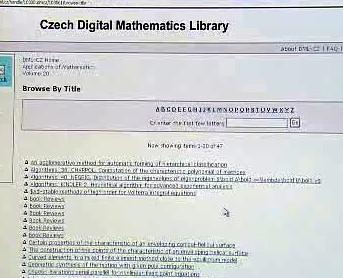 Česká digitální matematická knihovna
