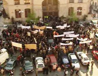 Demonstrace na Mariánském náměstí