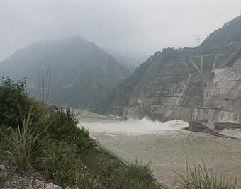 Zaplavené jezero Tchang-ťia-šan
