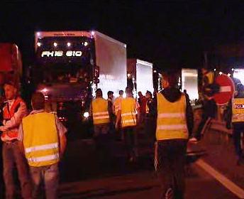 Řidiči kamionů ve stávce