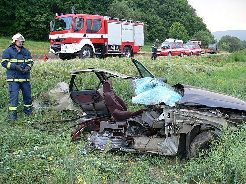 Auto po tragické nehodě