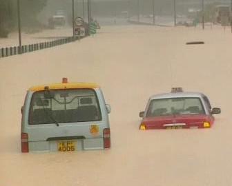 Záplavy v Hongkongu