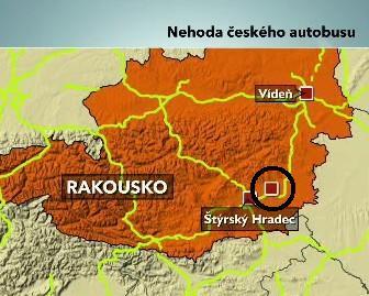 Nehoda českého autbusu
