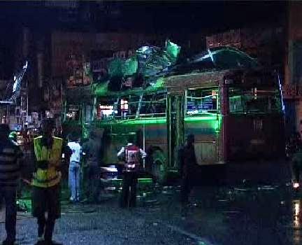 Výbuch autobusu na Srí Lance