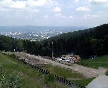 Budování libereckého lyžařského areálu