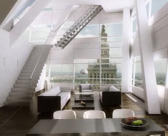 Vizualizace luxusního bytu ve Varšavě
