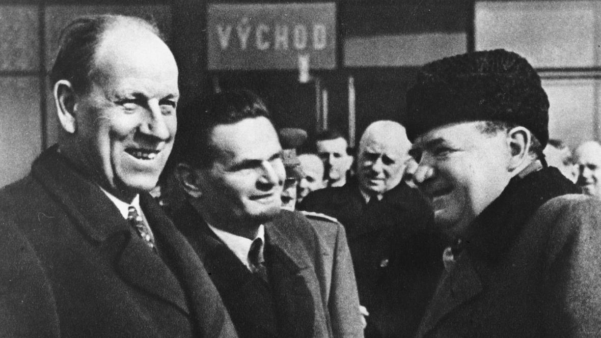 Antonín Zápotocký a Klement Gottwald