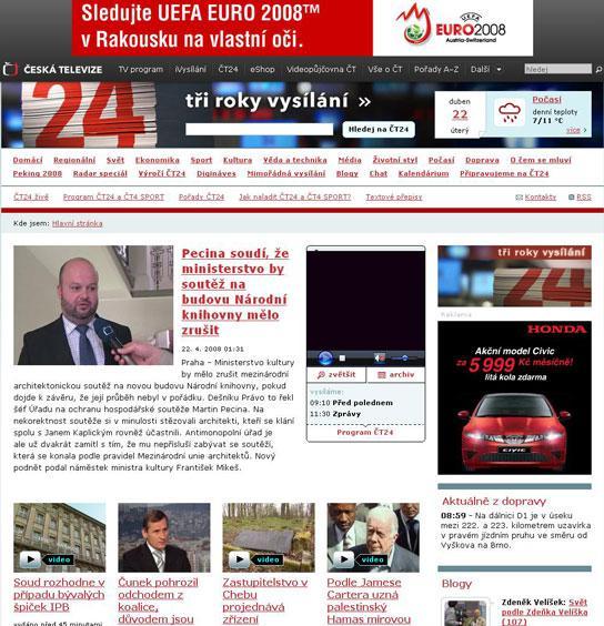 Internetový portál ČT24