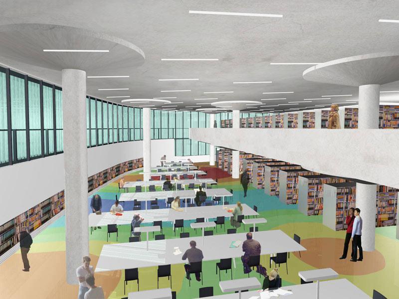 Národní technická knihovna - vizualizace