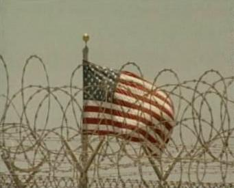 Vlajka USA v Guantánamu