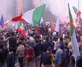 Demonstrace před Evropskou komisí