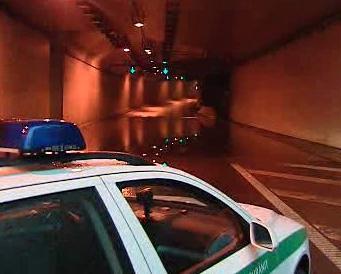 Zaplavený Zlíchovský tunel