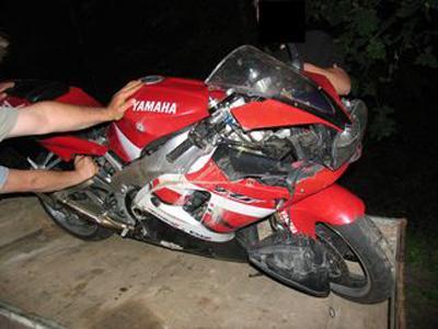 Havarovaná motorka