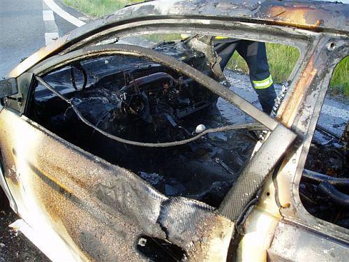 Vozidlo po požáru