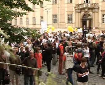 Protestní akce před pražským magistrátem