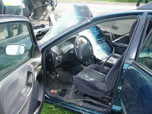 Havarovaný Opel Astra