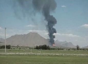 Požár v Íránu